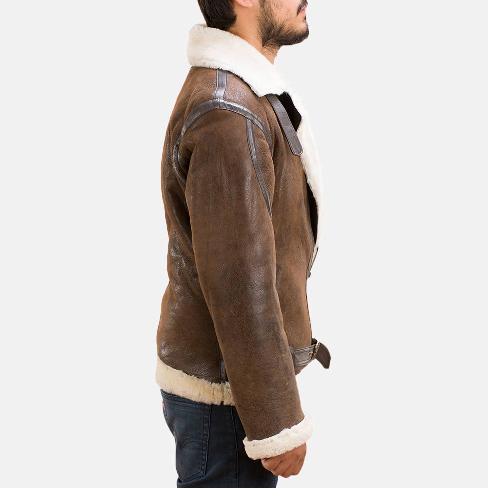 Mens Forest Double Face Shearling Jacket 3
