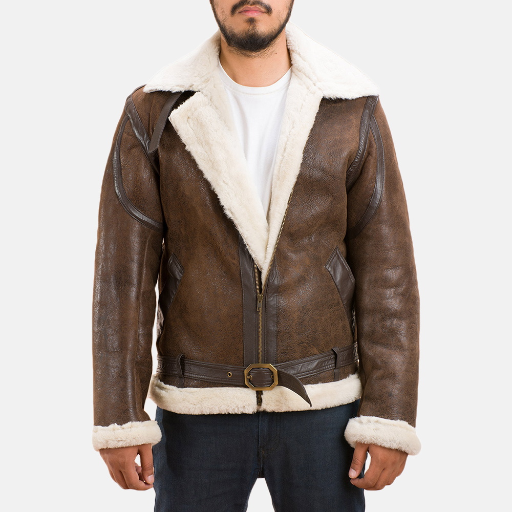 Mens Forest Double Face Shearling Jacket 1