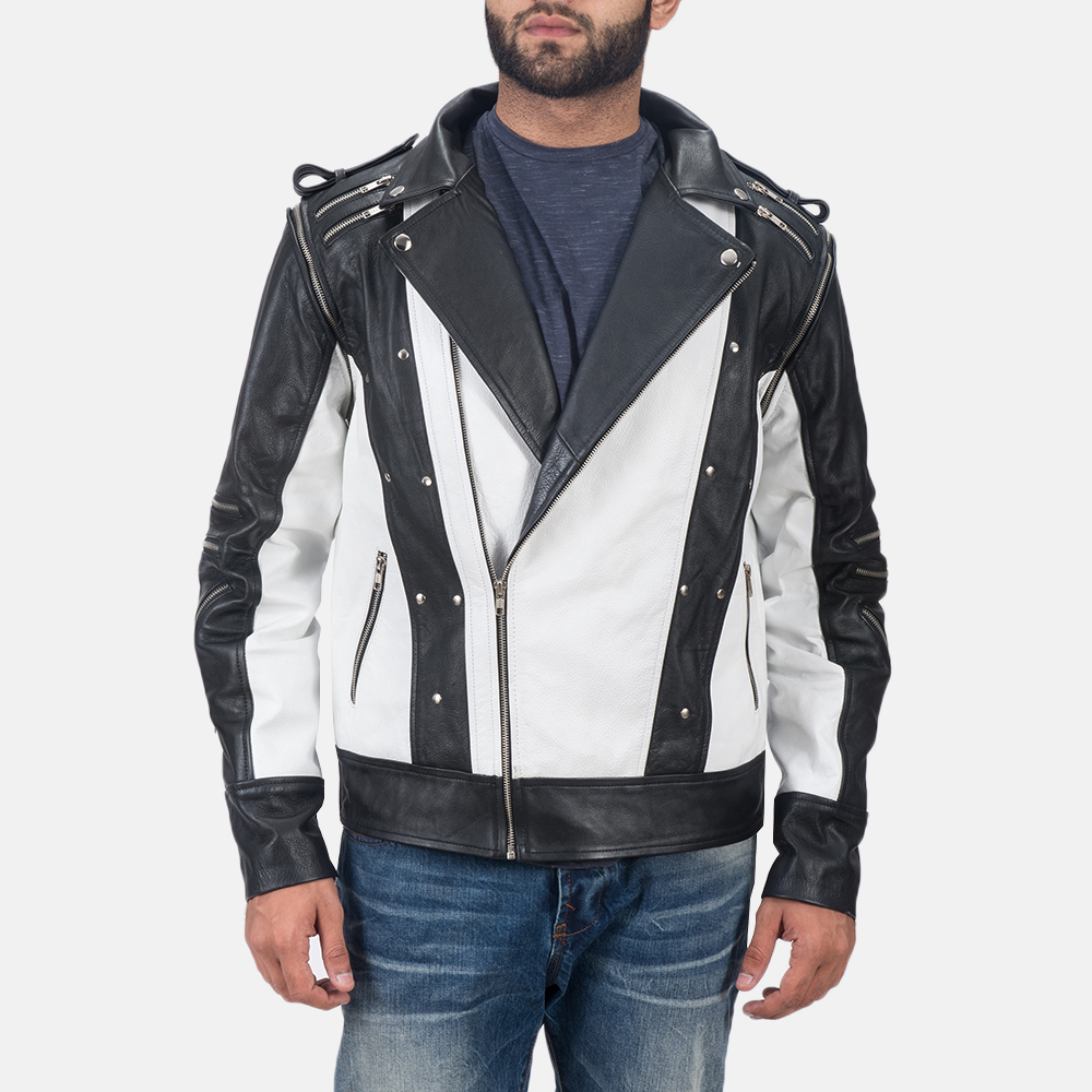 Mens Kravitz Leather Biker Jacket 1