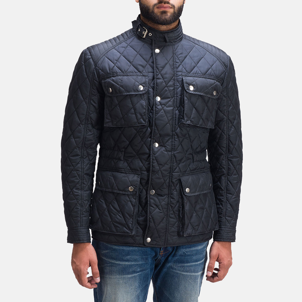 Mens Nelson Quilted Windbreaker Jacket 1