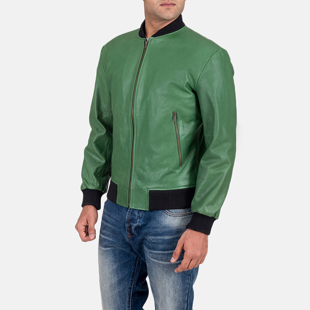 Mens Shane Green Bomber Jacket 3