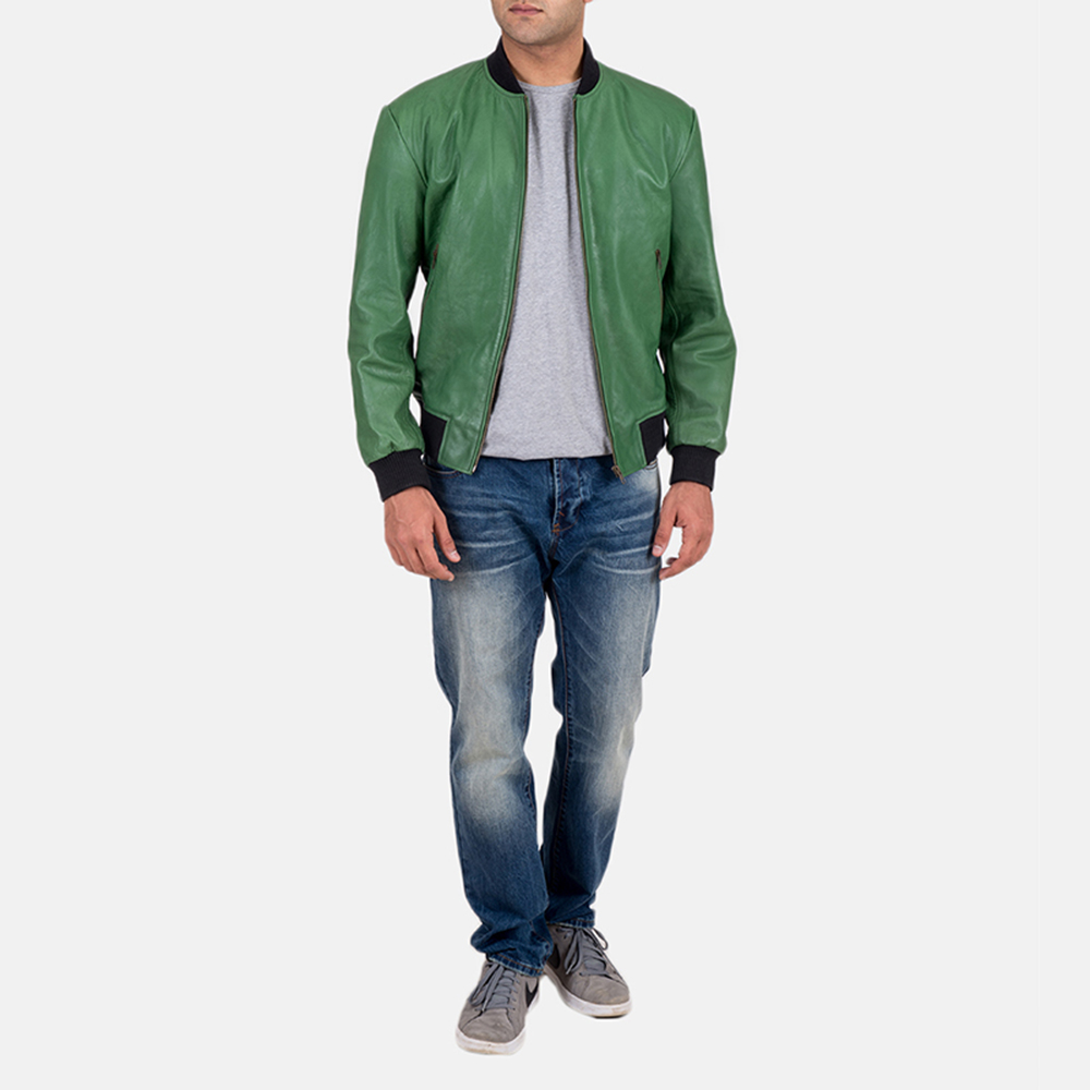 Mens Shane Green Bomber Jacket 2
