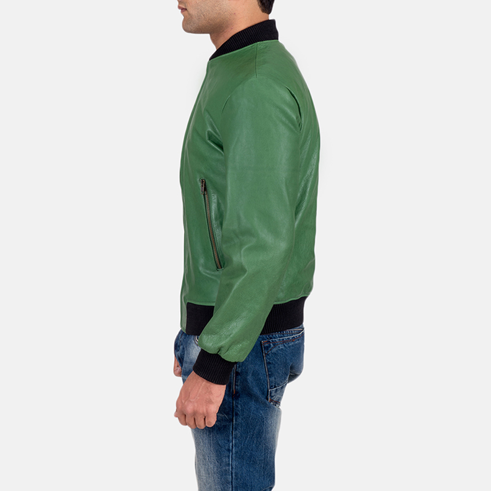 Mens Shane Green Bomber Jacket 5
