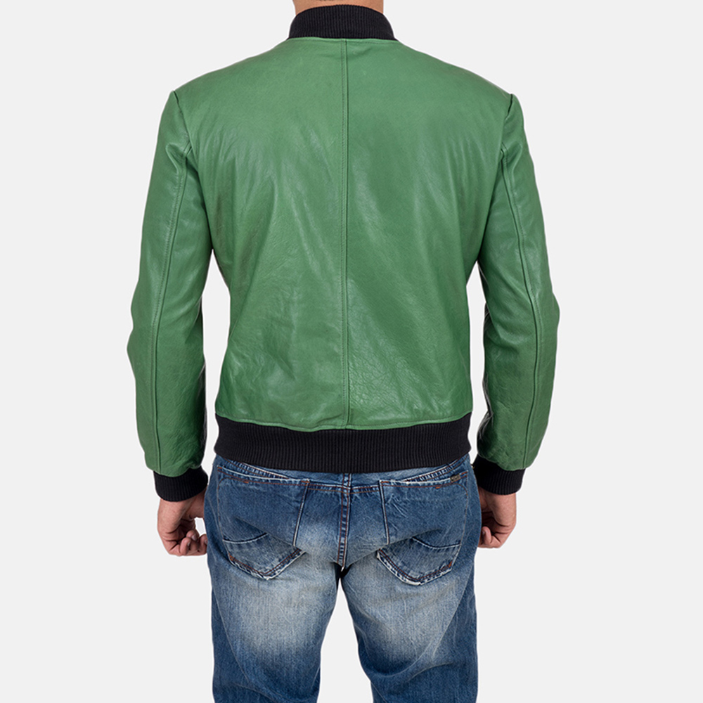 Mens Shane Green Bomber Jacket 6