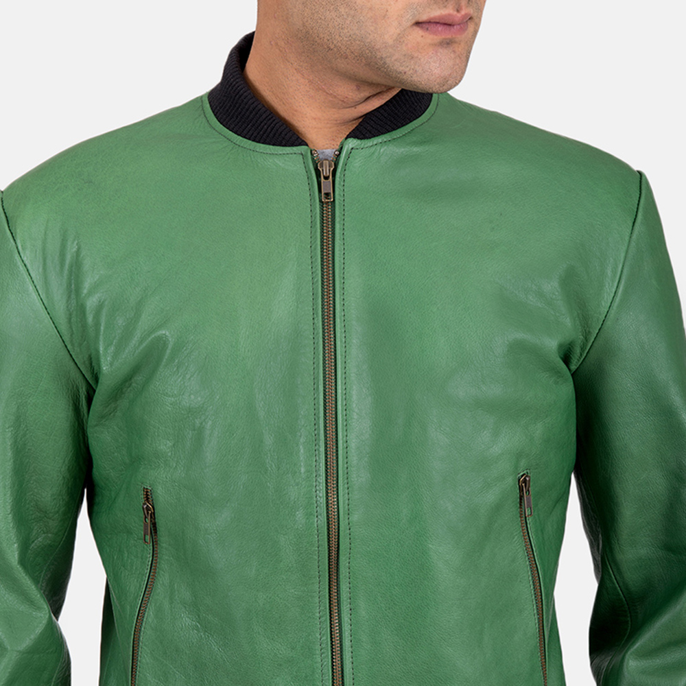 Mens Shane Green Bomber Jacket 4