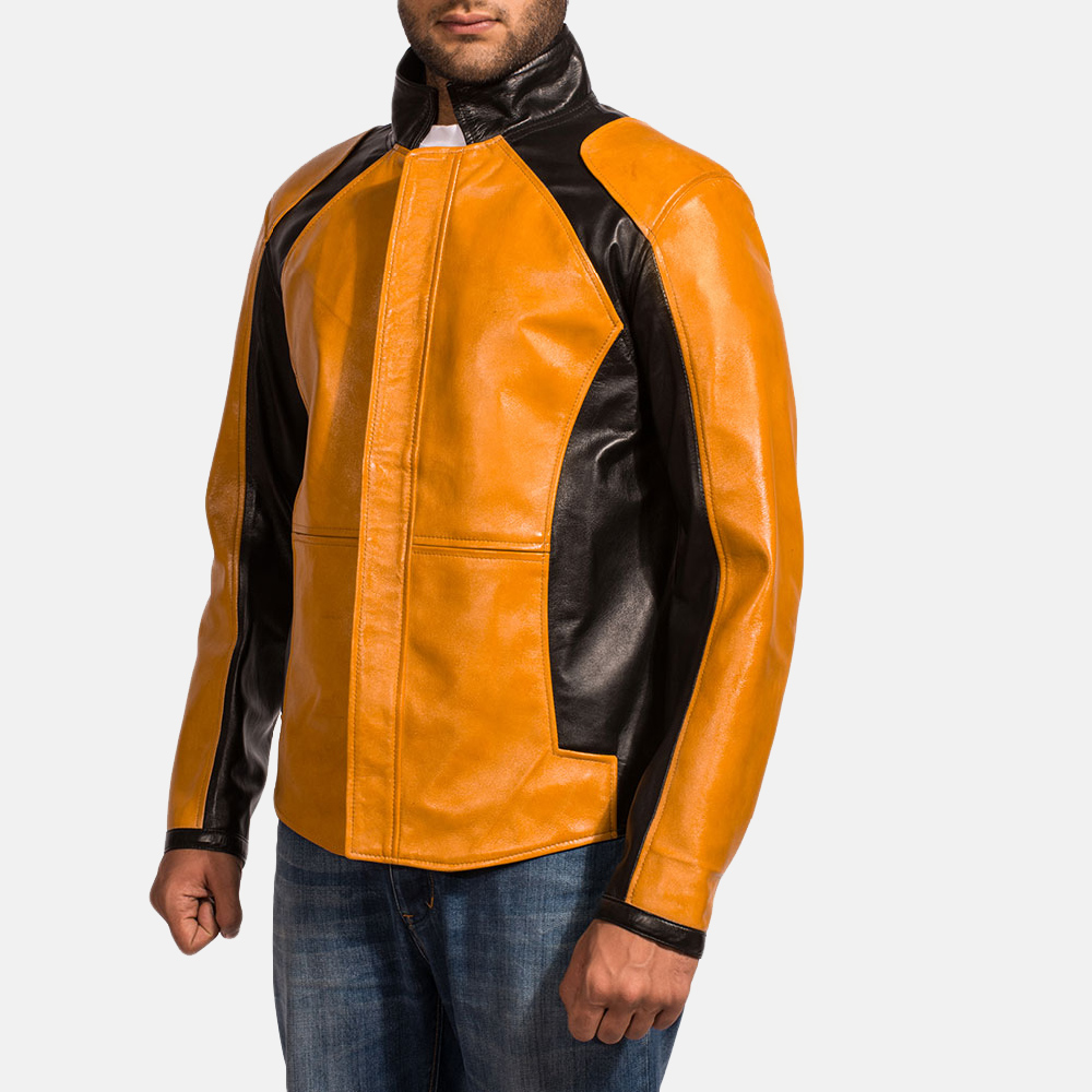 Mens Sunrise Leather Biker Jacket 2