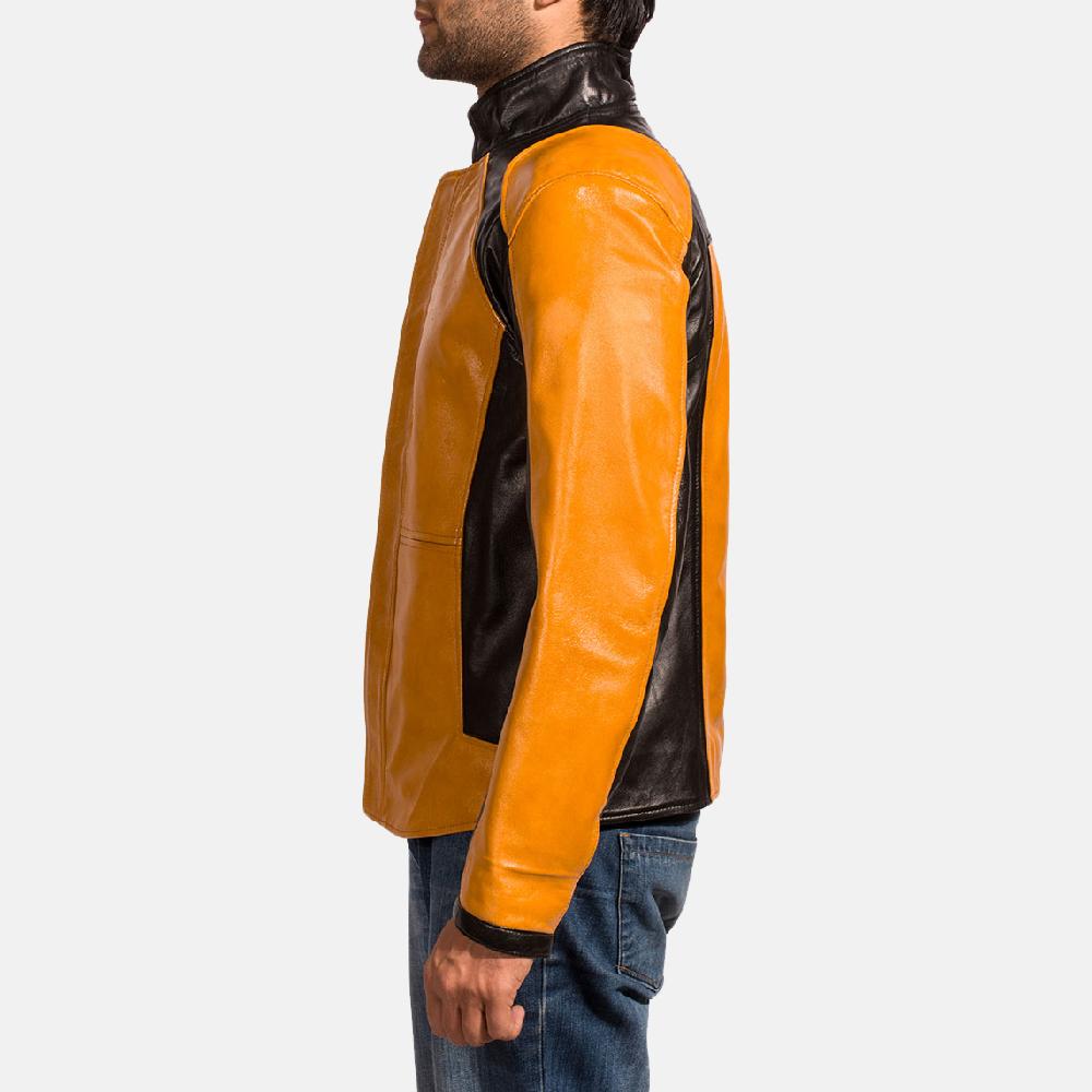 Mens Sunrise Leather Biker Jacket 3