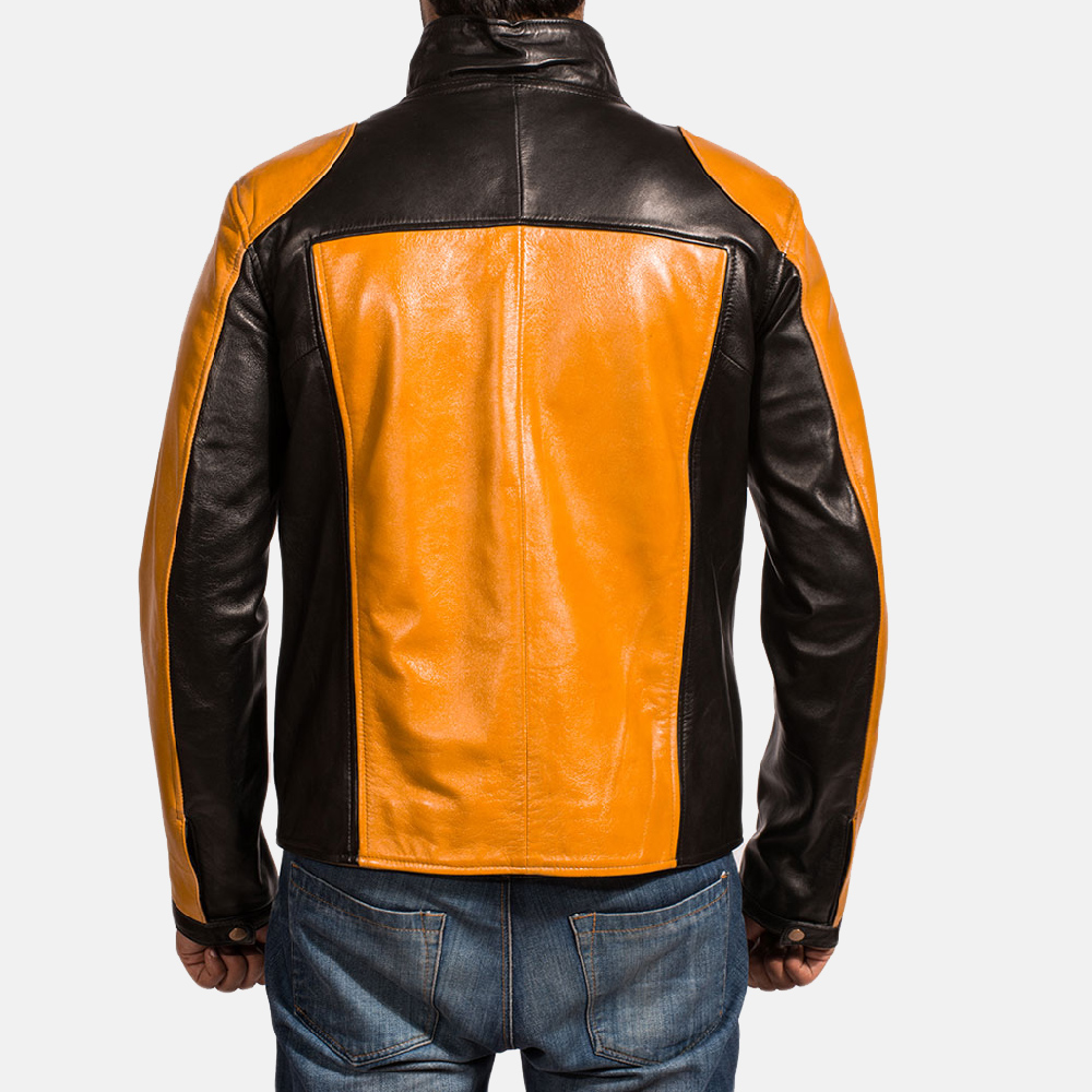Mens Sunrise Leather Biker Jacket 4