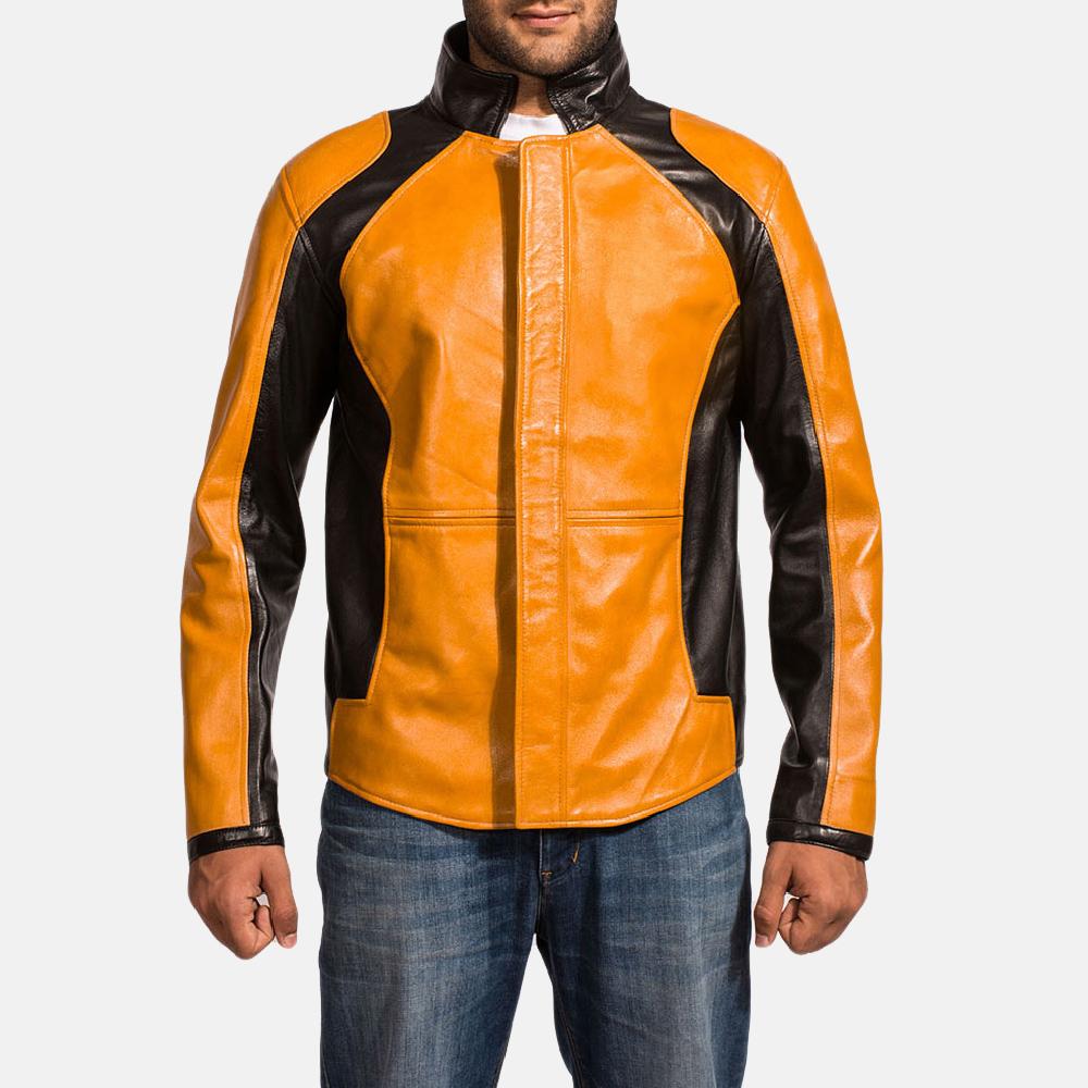 Mens Sunrise Leather Biker Jacket 1