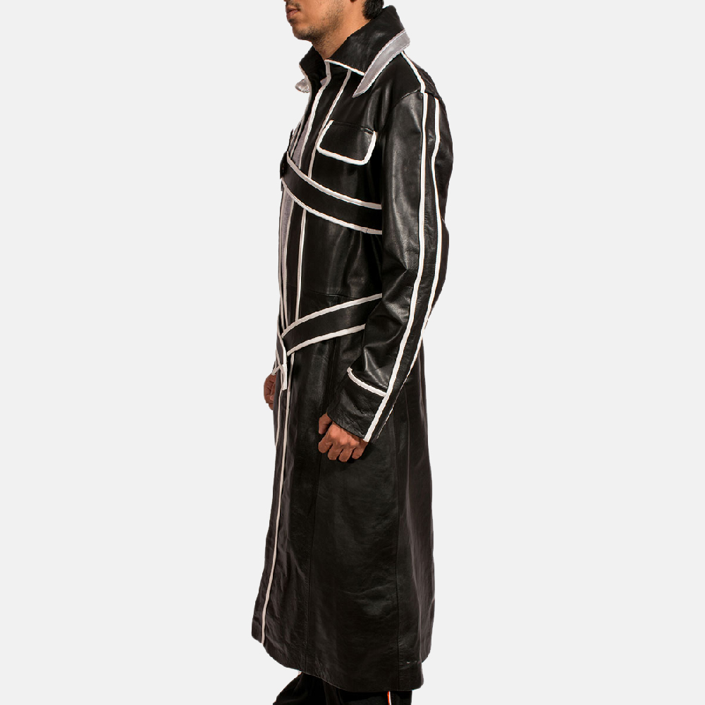 Mens Swordsman Leather Coat 3