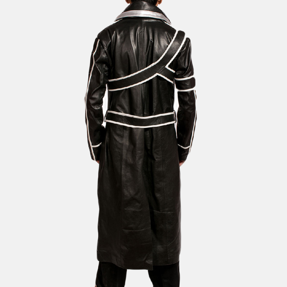 Mens Swordsman Leather Coat 2