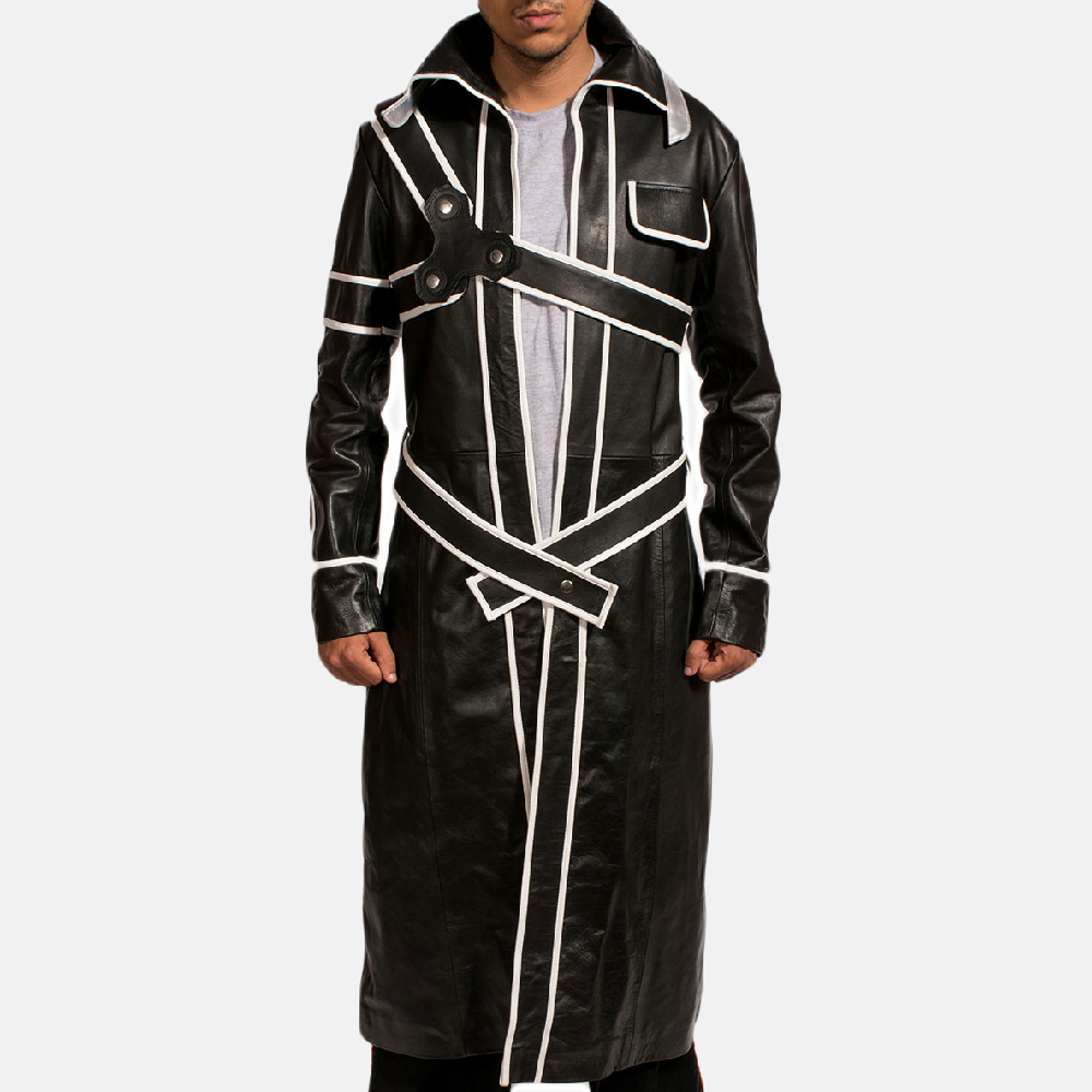 Mens Swordsman Leather Coat 1