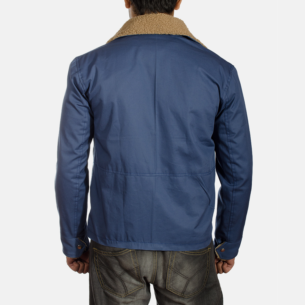 Mens Terry Blue Winter Jacket 4
