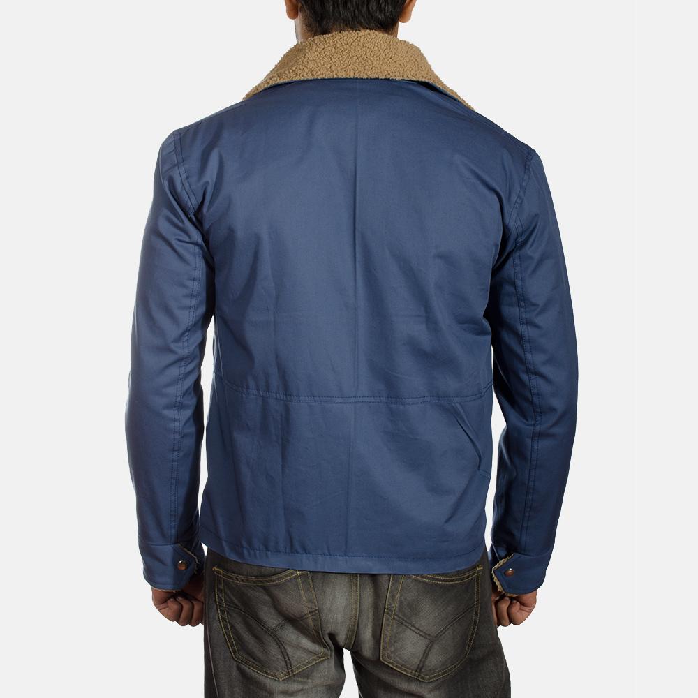 Mens Terry Blue Winter Jacket 4