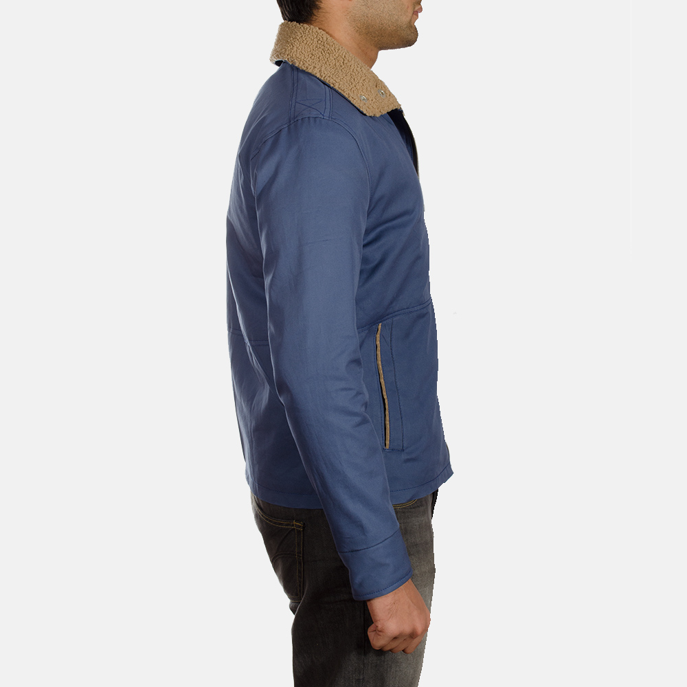 Mens Terry Blue Winter Jacket 3