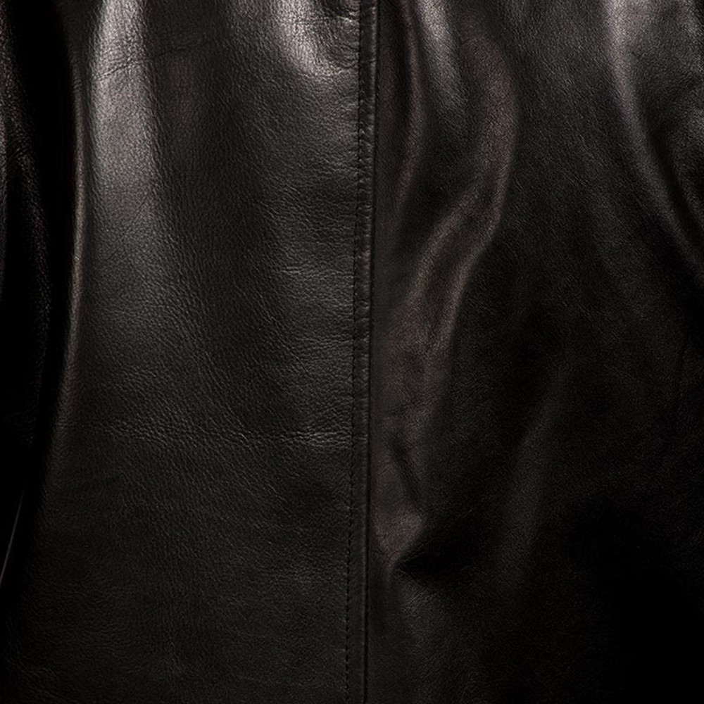 Mens Urban Slate Black Leather Coat 4