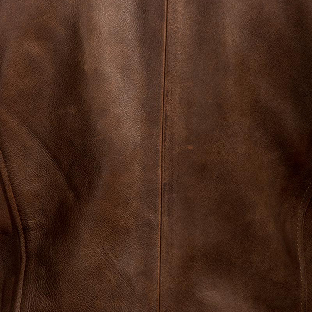 Mens Wilding Brown Leather Jacket 5
