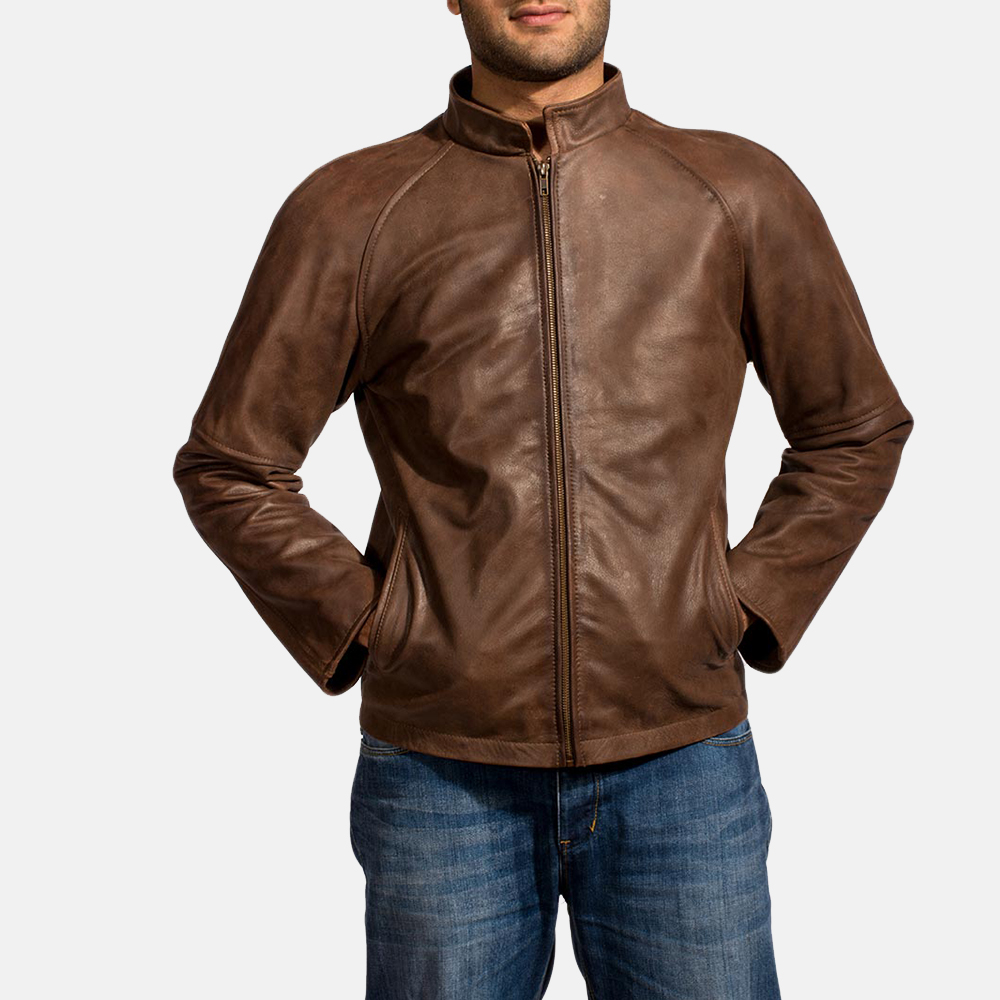 Men's Cafe Racer Jackets & Moto Jackets In Real Leather