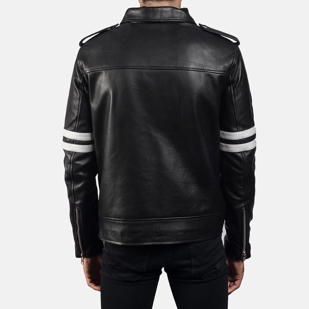 Mens Dragonhide Black Leather Jacket 4