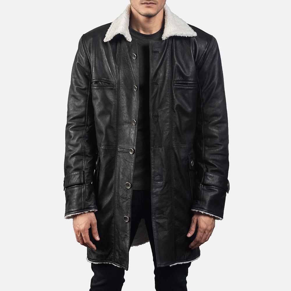 Mens Storm Nite Black Suede Coat 1
