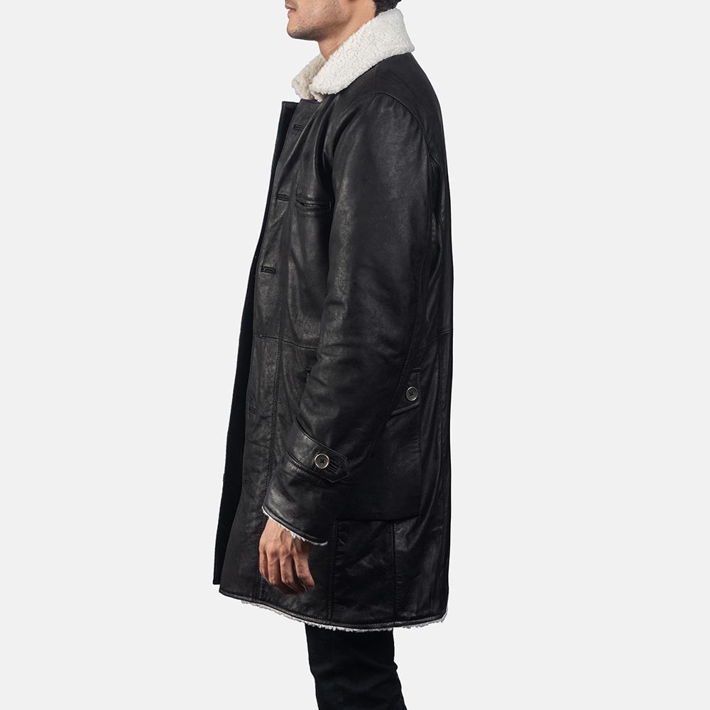 Mens Storm Nite Black Suede Coat 3
