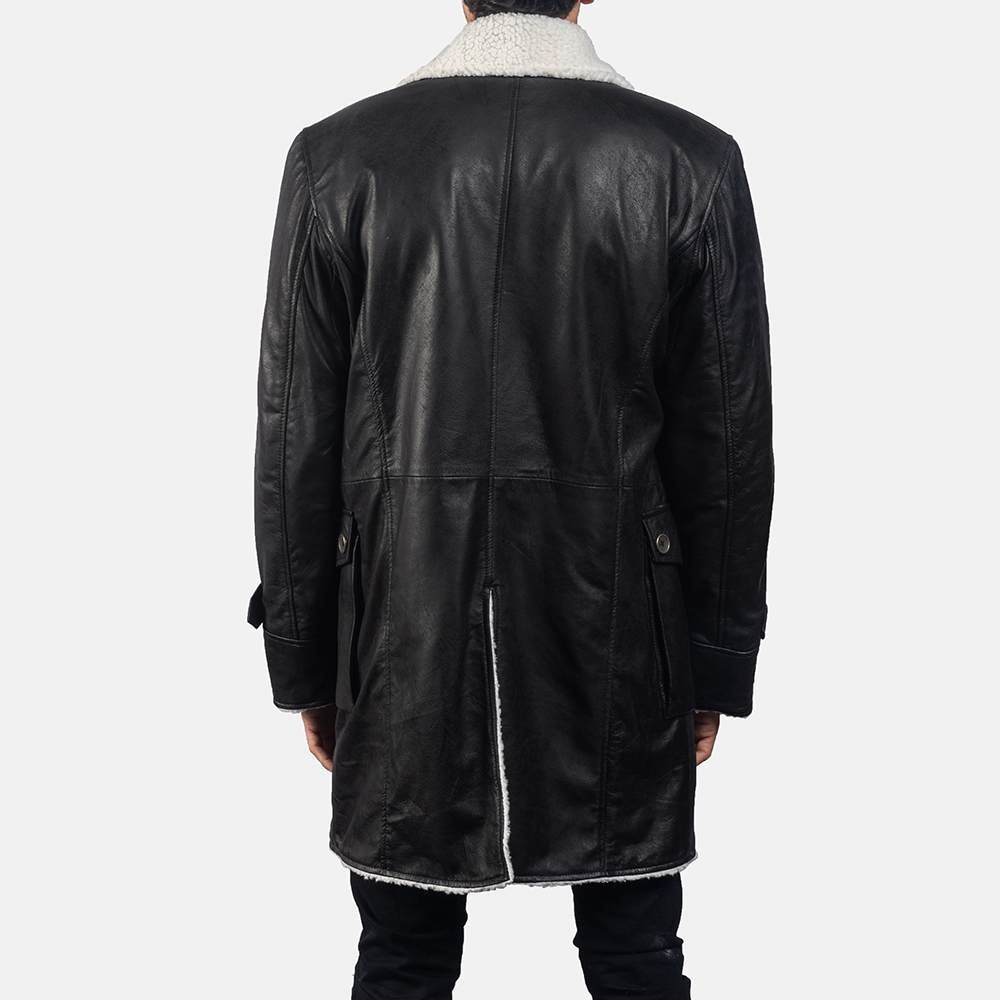 Mens Storm Nite Black Suede Coat 4