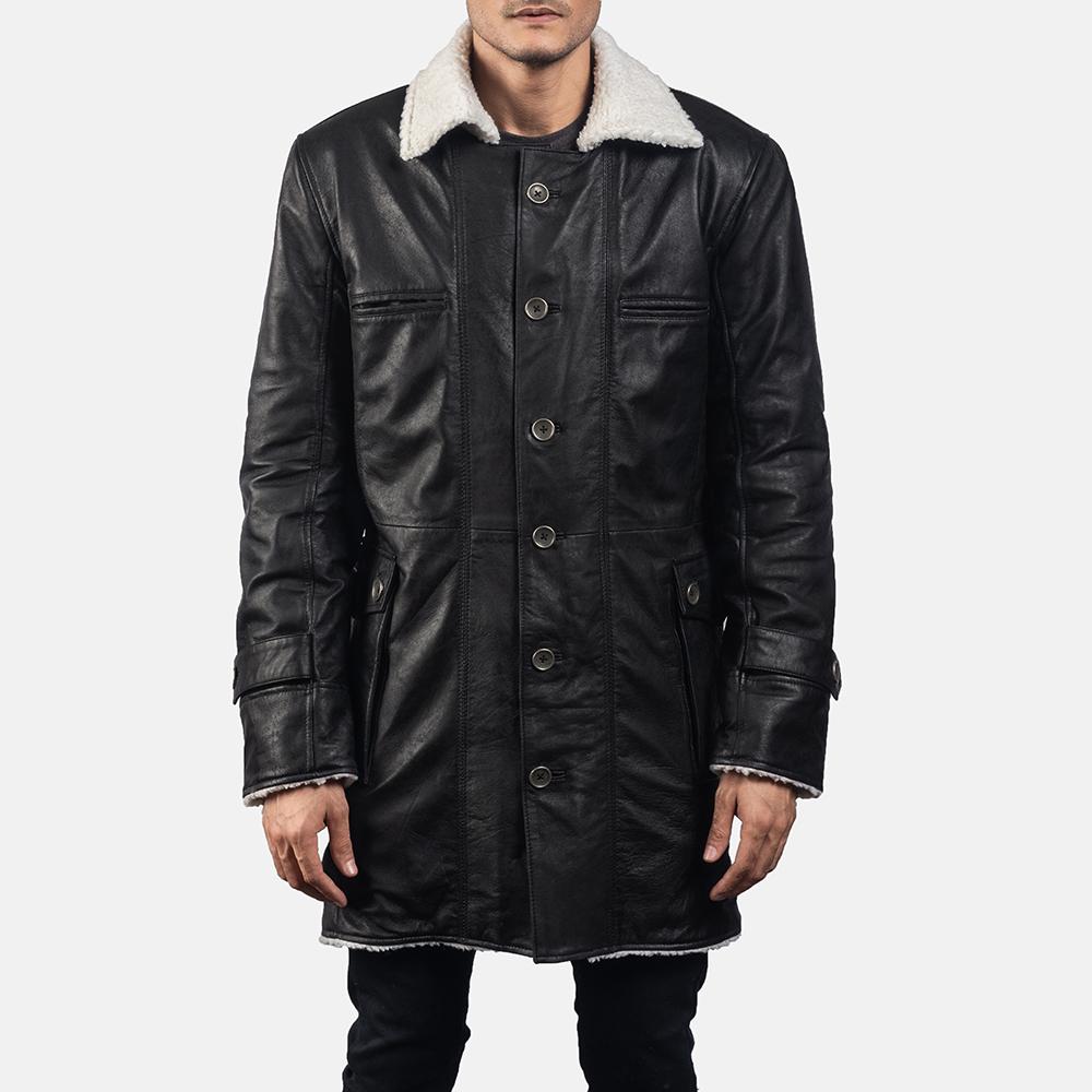 Mens Storm Nite Black Suede Coat 5