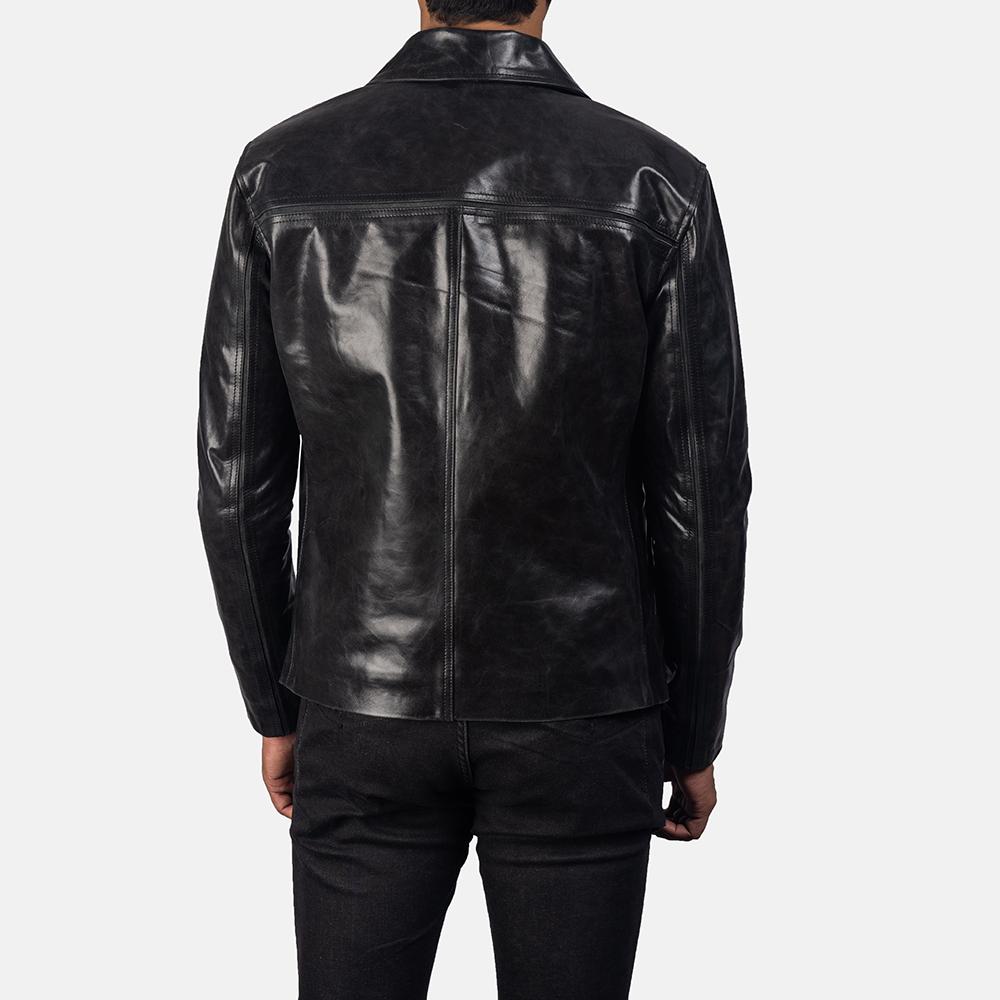 Mens Mystical Black Leather Jacket 4