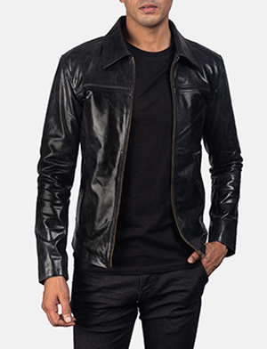 Mens Mystical Black Leather Jacket