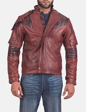 Mens Mars Maroon 2 Leather Jacket