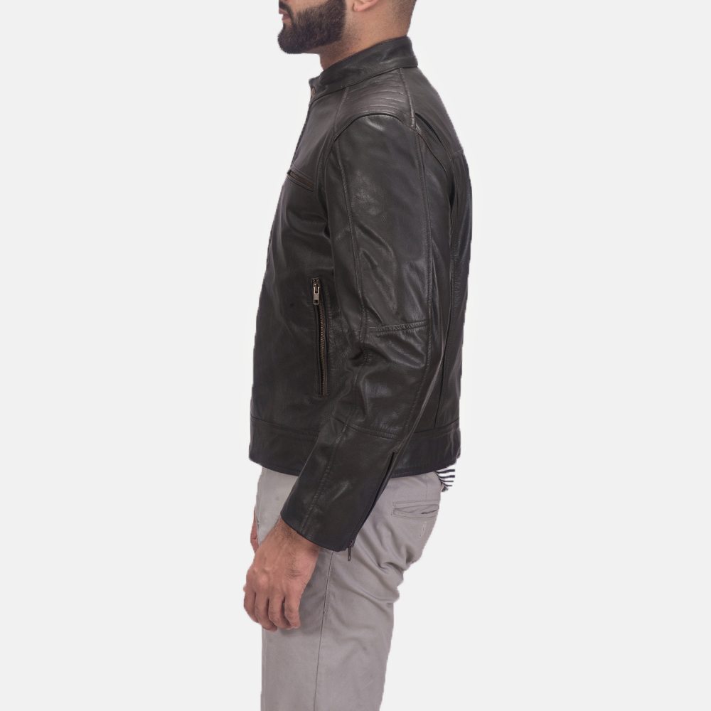 Sonny Brown Leather Biker Jacket  4