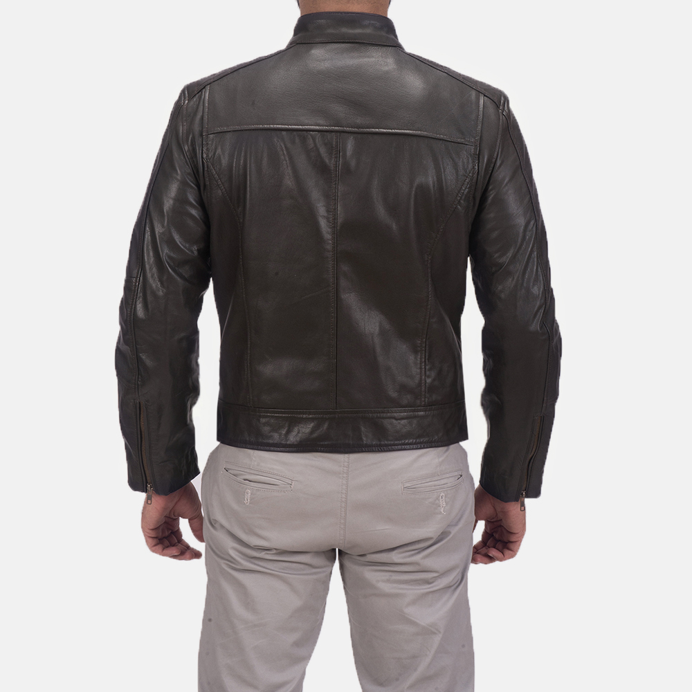 Sonny Brown Leather Biker Jacket  5
