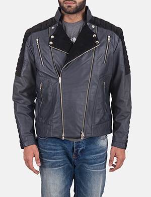 Men's Lucas Hybrid Suede Leather Biker Jacket