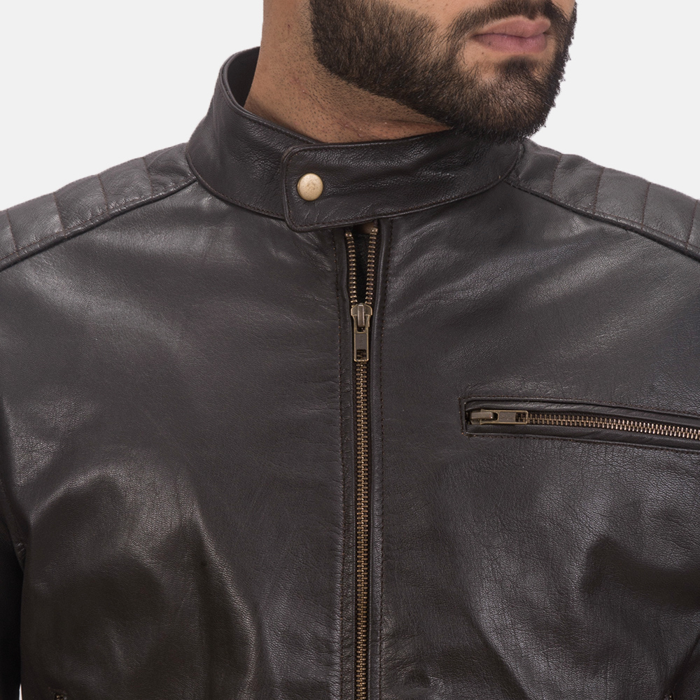 Sonny Brown Leather Biker Jacket  6