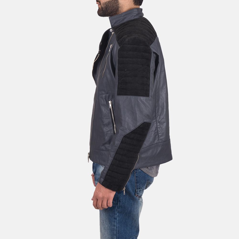 Men's Lucas Hybrid Suede Leather Biker Jacket 5
