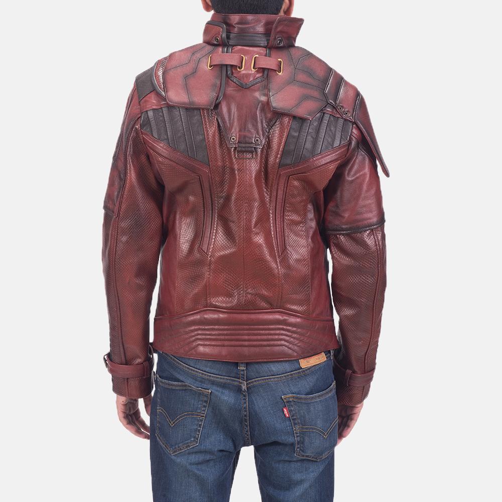 Mens Mars Maroon 2 Leather Jacket 4