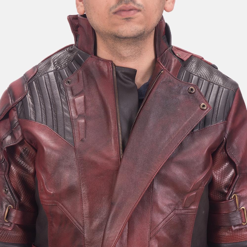 Mens Mars Maroon 2 Leather Jacket 6