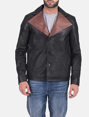 Men's Jaxon Black Leather Jacket