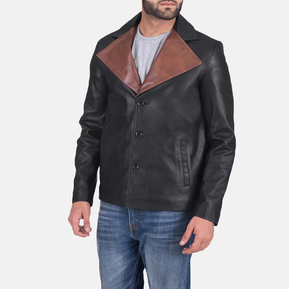 Men's Jaxon Black Leather Jacket 3