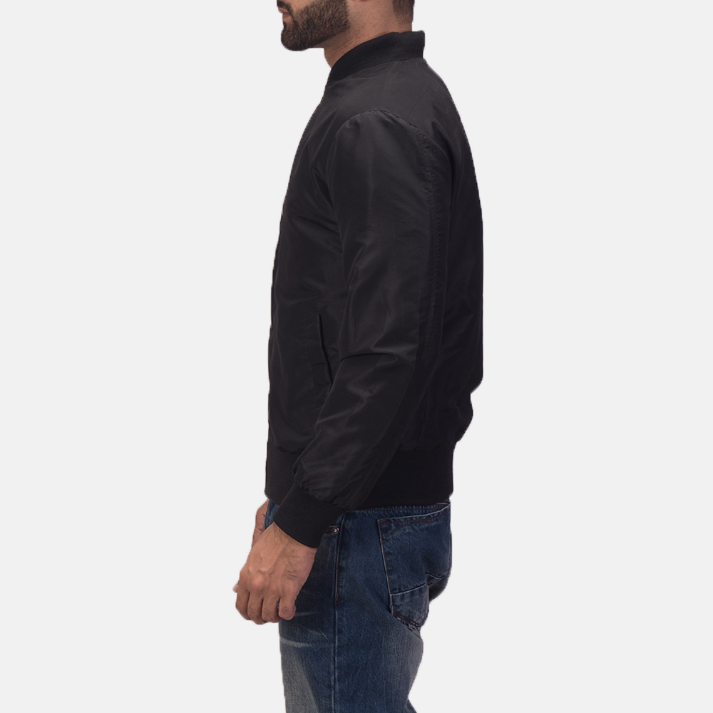 Men's Zack Black Bomber Jacket 4
