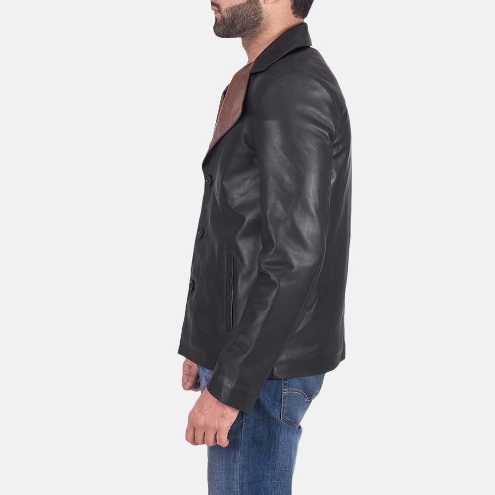 Men's Jaxon Black Leather Jacket 5