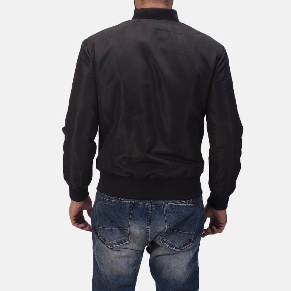 Men's Zack Black Bomber Jacket 5