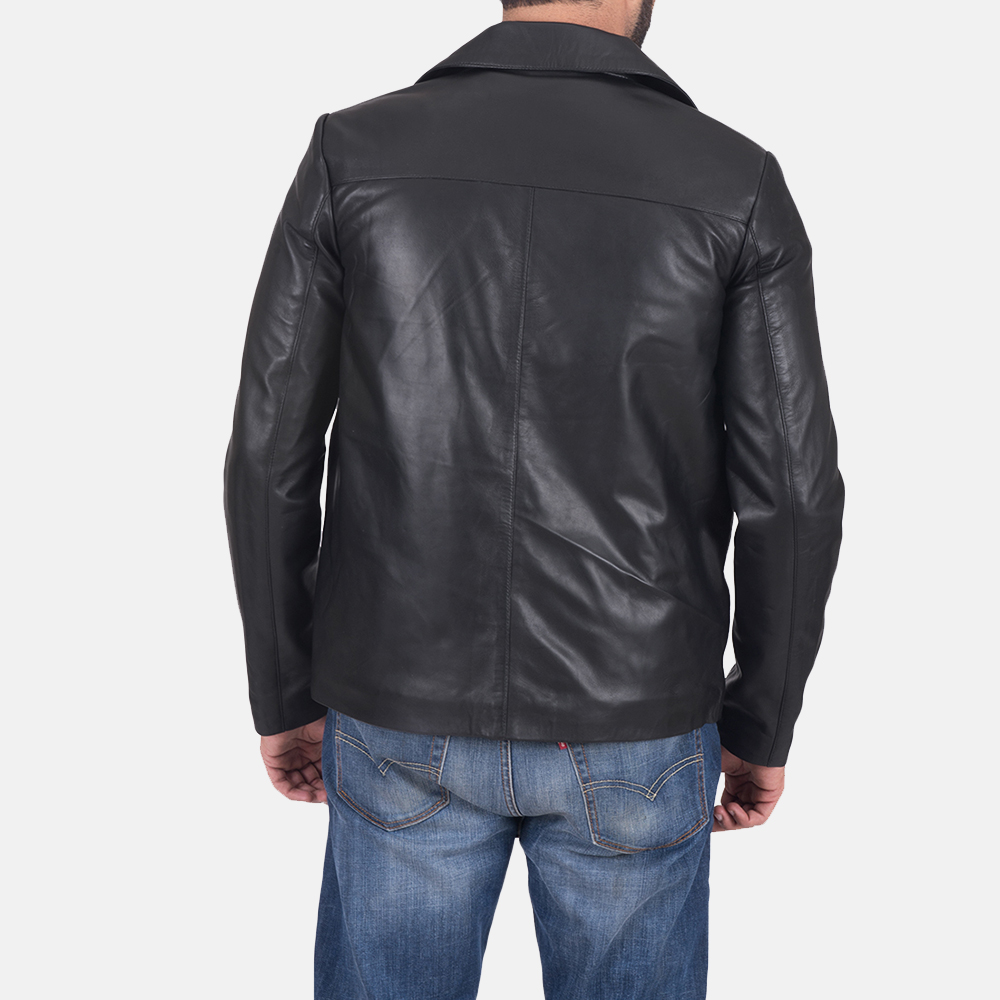 Men's Jaxon Black Leather Jacket 6