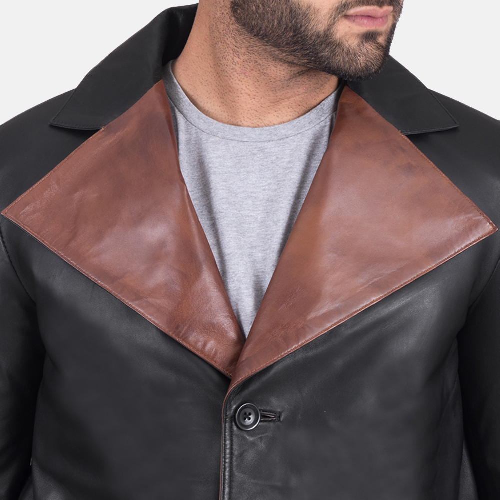 Men's Jaxon Black Leather Jacket 4