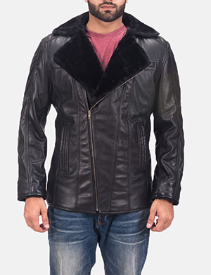 Men's Ambrose Black Leather Jacket