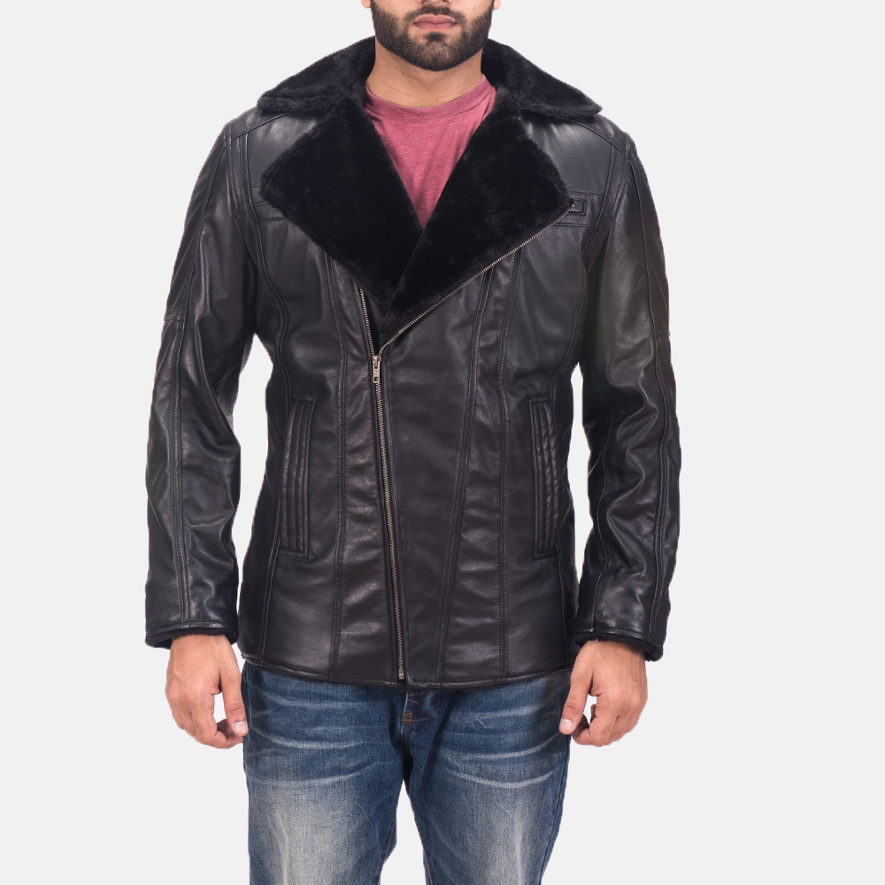 Men's Ambrose Black Leather Jacket 1