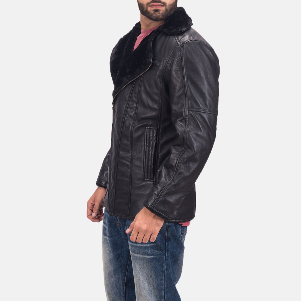 Men's Ambrose Black Leather Jacket 3