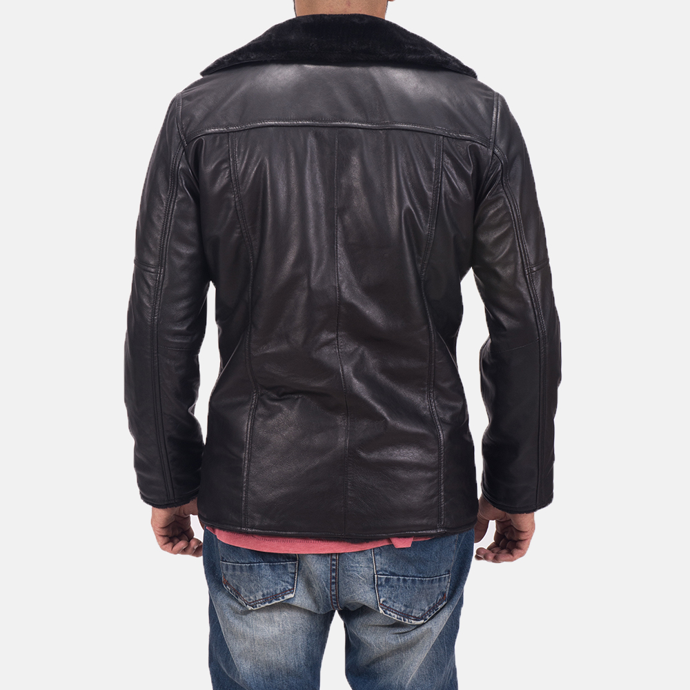 Men's Ambrose Black Leather Jacket 4