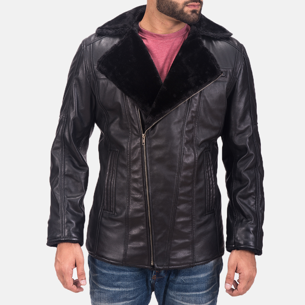 Men's Ambrose Black Leather Jacket 6