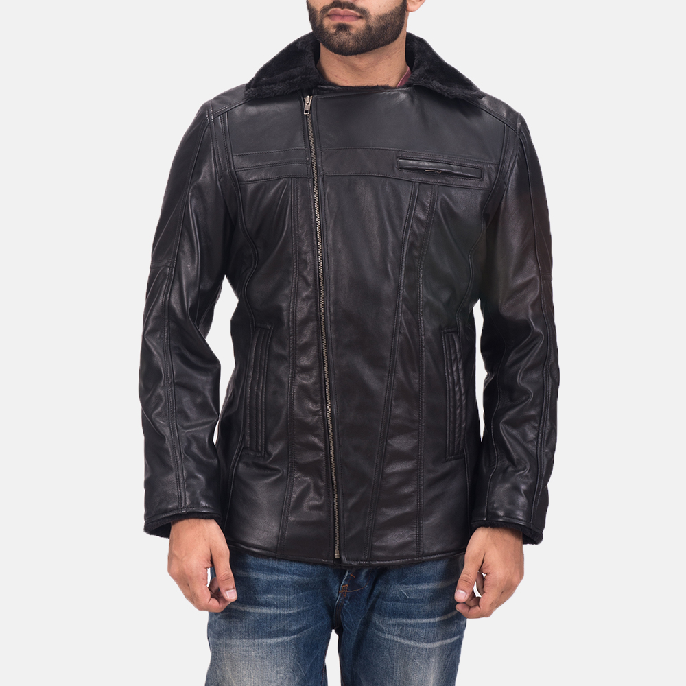 Men's Ambrose Black Leather Jacket 7